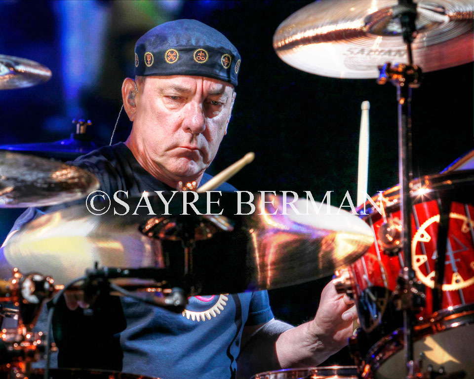 Neil Peart perform with Rush at the BB&T Center in Sunrise, Florida.